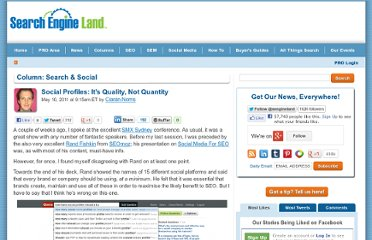 http://searchengineland.com/social-profiles-its-quality-not-quantity-75890
