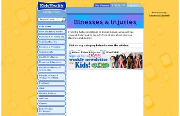 http://kidshealth.org/kid/ill_injure/index.html