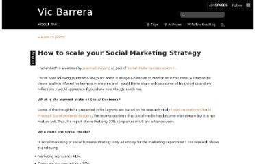 http://vicbarrera.com/how-to-scale-your-social-marketing-strategy