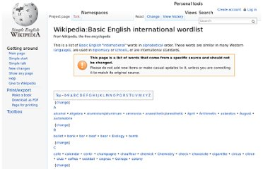 http://simple.wikipedia.org/wiki/Wikipedia:Basic_English_international_wordlist
