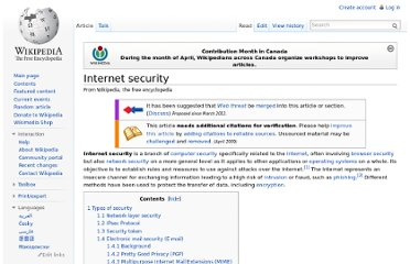http://en.wikipedia.org/wiki/Internet_security