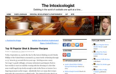 http://intoxicologist.net/2009/09/top-10-popular-shot-recipes/