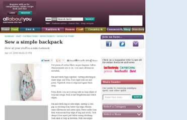 http://www.allaboutyou.com/craft/pattern-finder/sewing-projects/sewing-for-women/sew-a-simple-backpack-48050