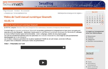 http://www.sesamath.net/blog/index.php/2011/05/10/videos-de-l-outil-manuel-numerique-sesam