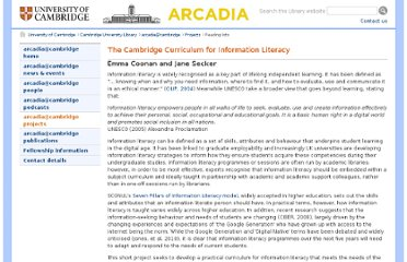 http://arcadiaproject.lib.cam.ac.uk/projects/information-literacy.html