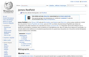 http://fr.wikipedia.org/wiki/James_Redfield