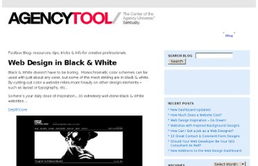 http://www.agencytool.com/blog/web-design-in-black-white
