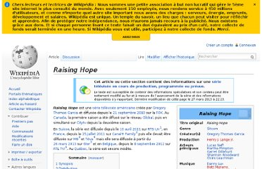 http://fr.wikipedia.org/wiki/Raising_Hope
