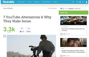 http://mashable.com/2011/05/11/youtube-alternatives/
