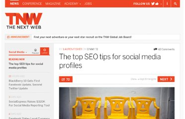 http://thenextweb.com/socialmedia/2011/05/11/the-top-seo-tips-for-social-media-profiles/