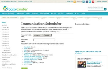 http://www.babycenter.com/immunization-scheduler