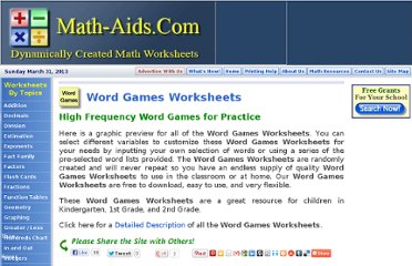 http://www.math-aids.com/Word_Games/