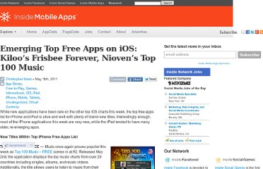 http://www.insidemobileapps.com/2011/05/11/emerging-top-free-apps-on-ios-kiloos-frisbee-forever-niovens-top-100-music/