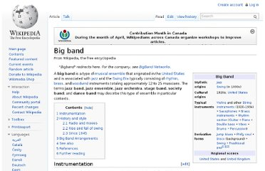 http://en.wikipedia.org/wiki/Big_band