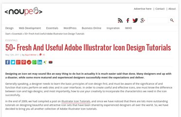 http://www.noupe.com/tutorial/50-fresh-and-useful-adobe-illustrator-icon-design-tutorials.html