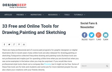 http://designbeep.com/2011/05/12/33-free-and-online-tools-for-drawingpainting-and-sketching/