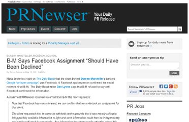 http://www.mediabistro.com/prnewser/b-m-says-facebook-assignment-should-have-been-declined_b20772