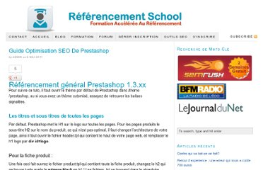 http://blog.referencementschool.com/guide-optimisation-seo-de-prestashop/
