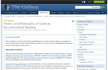 http://www.galilean-library.org/site/index.php/page/index.html/_/recommendedreading/history-and-philosophy-of-science-recommended-r83