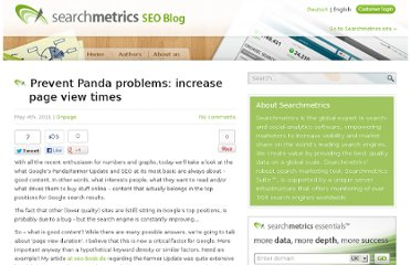 http://blog.searchmetrics.com/us/2011/05/04/prevent-panda-problems-increase-page-view-times/