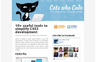 http://www.catswhocode.com/blog/10-useful-tools-to-simplify-css3-development