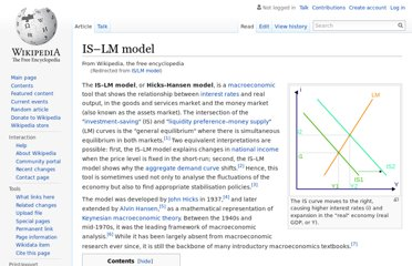 http://en.wikipedia.org/wiki/IS/LM_model