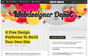 http://www.webdesignerdepot.com/2009/01/8-free-design-platforms-to-build-your-own-site/
