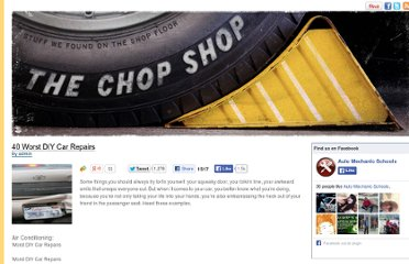 http://www.automechanicschools.net/blog/40-worst-diy-car-repairs