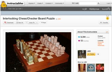 http://www.instructables.com/id/Interlocking-ChessChecker-Board-Puzzle/