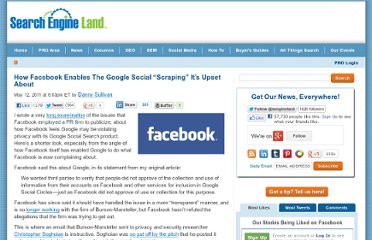 http://searchengineland.com/how-facebook-enables-the-google-social-scraping-its-upset-about-76979