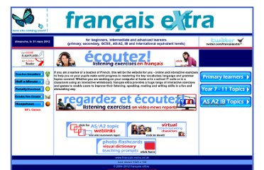 http://www.francais-extra.co.uk/frxwelcome.htm