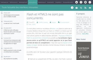 http://www.interfacesriches.fr/2011/05/12/flash-et-html5-ne-sont-pas-concurrents/