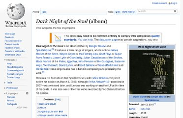 http://en.wikipedia.org/wiki/Dark_Night_of_the_Soul_(album)