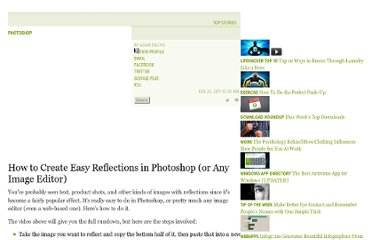 http://lifehacker.com/5762375/how-to-create-easy-reflections-in-photoshop-or-any-image-editor