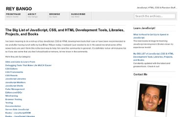 http://blog.reybango.com/the-big-list-of-javascript-css-and-html-development-tools-libraries-projects-and-books/#jslibs