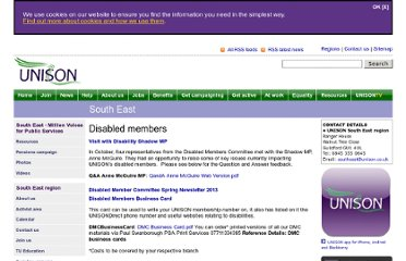 http://www.unison.org.uk/southeast/disabled.asp