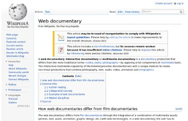 http://en.wikipedia.org/wiki/Web_documentary