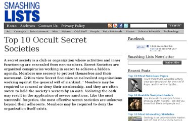 http://www.smashinglists.com/top-10-occult-secret-societies/