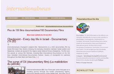 http://www.internationalnews.fr/article-20-documentaires-20-documentaries-66690578.html