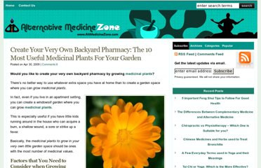 http://www.altmedicinezone.com/herbal-medicine/create-your-very-own-backyard-pharmacy-the-10-most-useful-medicinal-plants-for-your-garden/