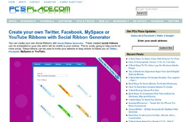 http://pcsplace.com/web-20/create-your-own-twitter-facebook-myspace-or-youtube-ribbons-with-social-ribbon-generator/