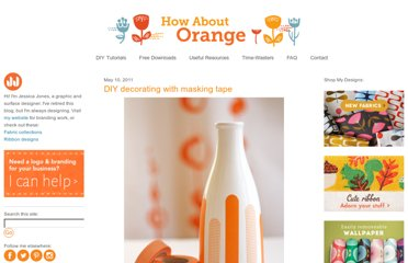 http://howaboutorange.blogspot.com/2011/05/diy-decorating-with-masking-tape.html