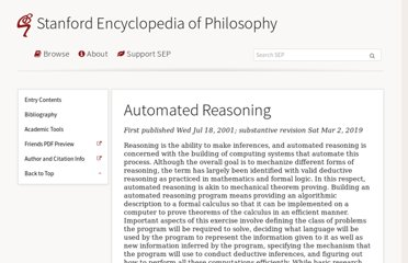 http://plato.stanford.edu/entries/reasoning-automated/
