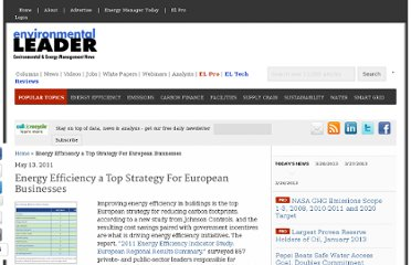 http://www.environmentalleader.com/2011/05/13/energy-efficiency-a-top-strategy-for-european-businesses/
