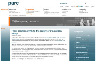 http://blogs.parc.com/blog/2011/05/from-creation-myth-to-the-reality-of-innovation-today/
