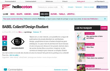 http://www.hellocoton.fr/babel-collectif-design-etudiant-2712132