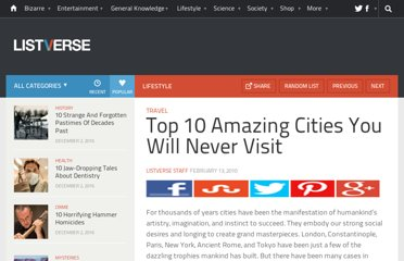 http://listverse.com/2010/02/13/top-10-amazing-cities-you-will-never-visit/