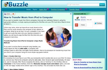 http://www.buzzle.com/articles/how-to-transfer-music-from-ipod-to-computer.html
