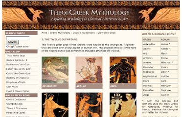 http://www.theoi.com/greek-mythology/olympian-gods.html