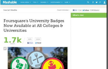 http://mashable.com/2011/01/31/foursquare-colleges-universities/